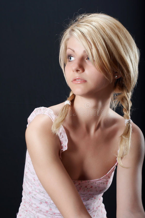 Beautiful country girl stock image