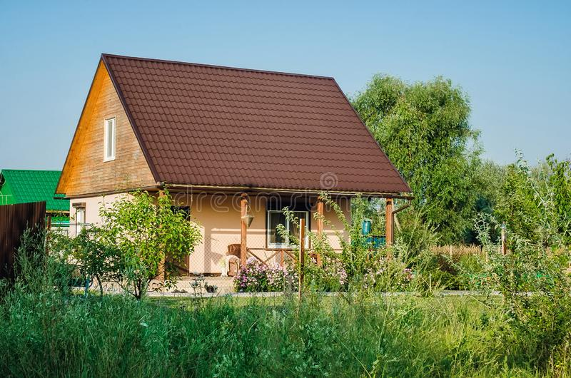 beautiful country holiday home. stock photo