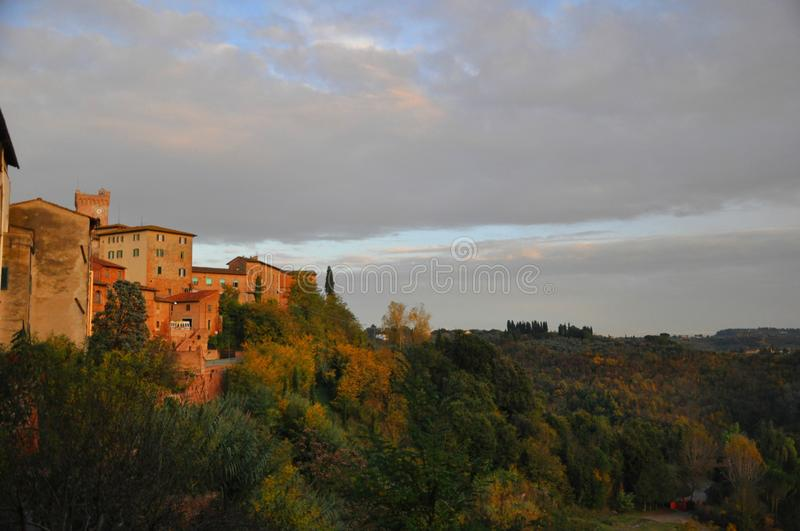Beautiful country in San Miniato Tuscany Italy royalty free stock image