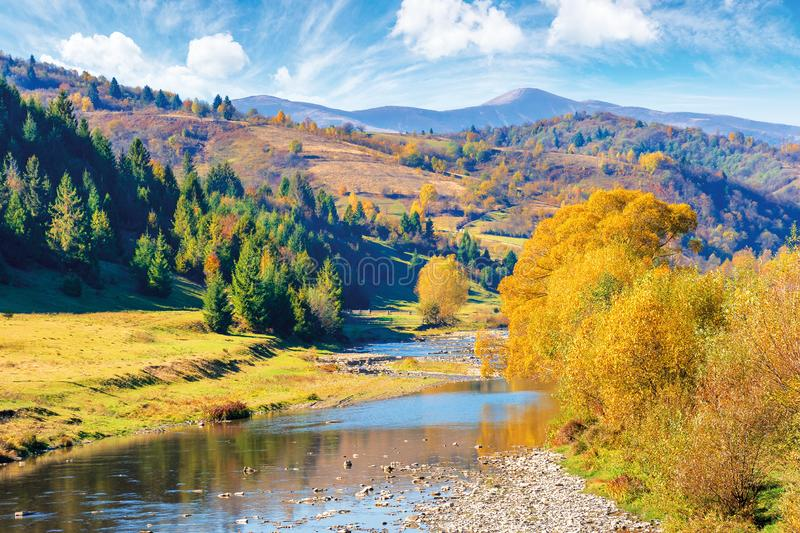 Beautiful countryside in autumn colors royalty free stock photo