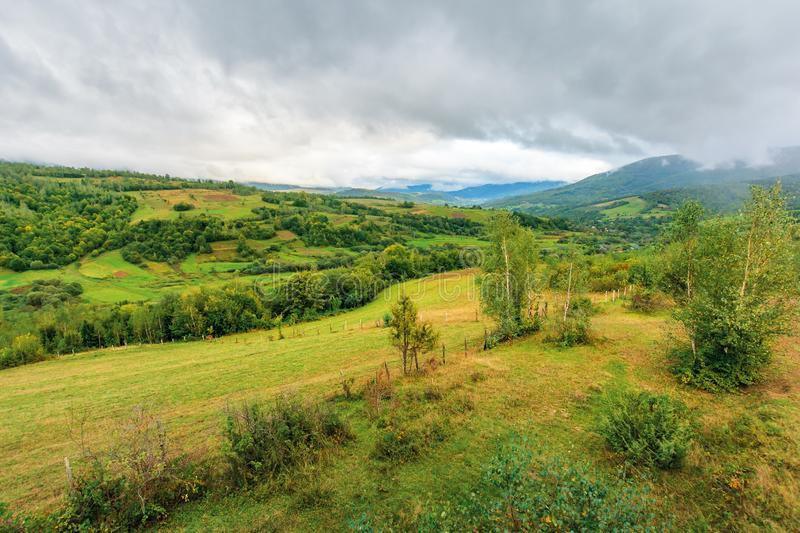 Beautiful countryside on an overcast day stock photography