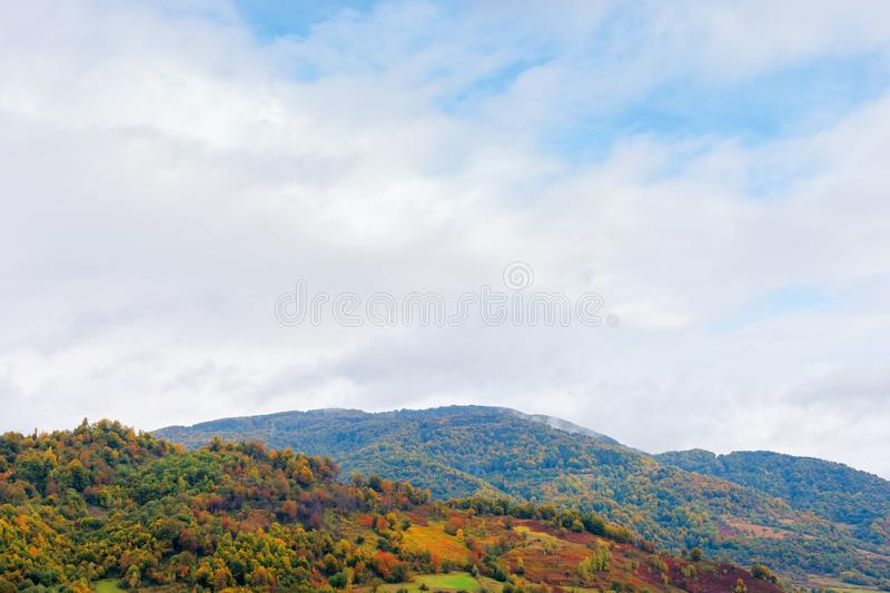 Beautiful countryside on a rainy day in mountains royalty free stock photography