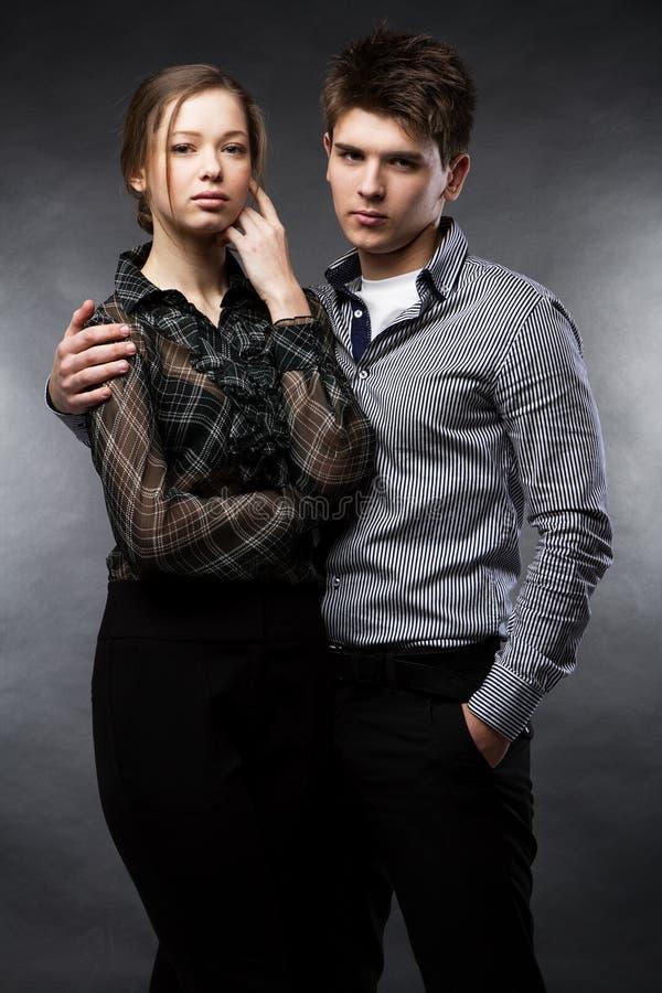 Download Beautiful Couple On Black Background Stock Image - Image of background, beauty: 24929691