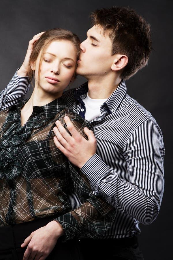 Download Beautiful Couple On Black Background Stock Photo - Image: 24929696