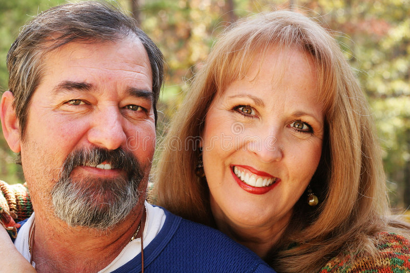 Beautiful couple headshot stock photo