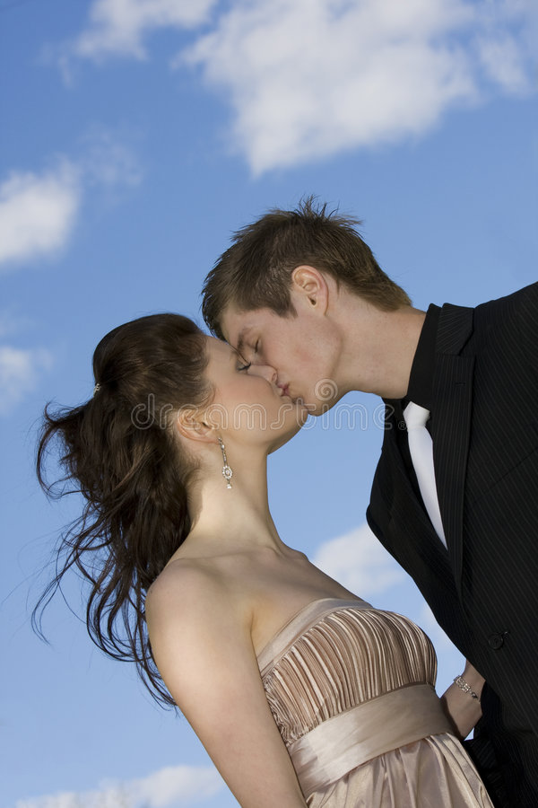 Download Beautiful couple kissing stock image. Image of shine, cheerful - 5677723