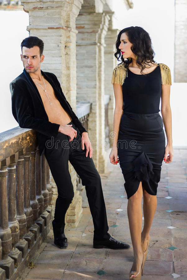 Free Beautiful Couple, Models Of Fashion, Wearing Spanish Clothes Royalty Free Stock Image - 43156746