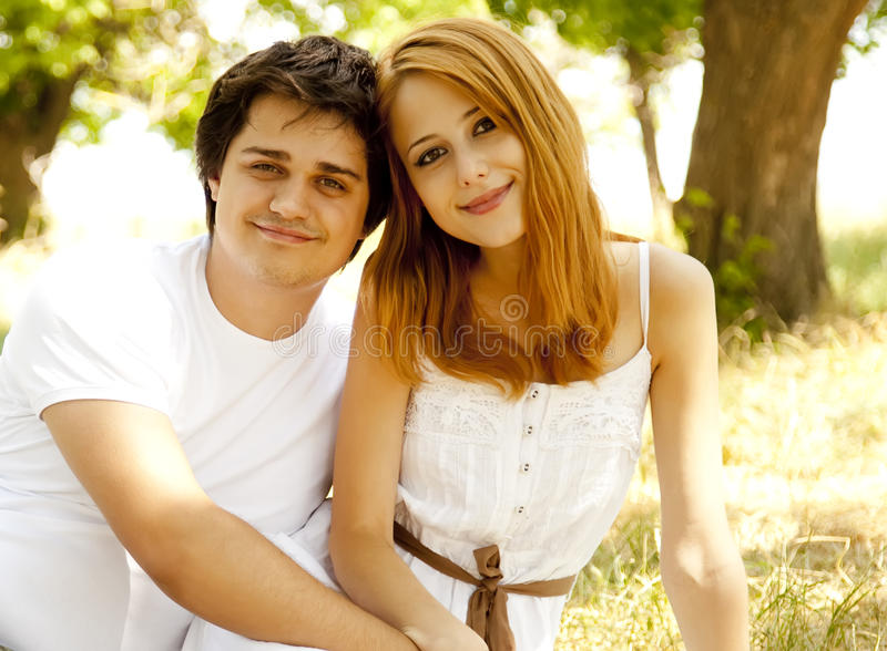 Download Beautiful Couple At Park. Royalty Free Stock Images - Image: 20064339