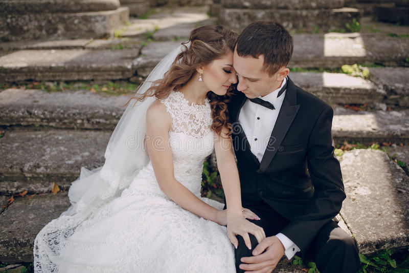Beautiful couple wedding stock images