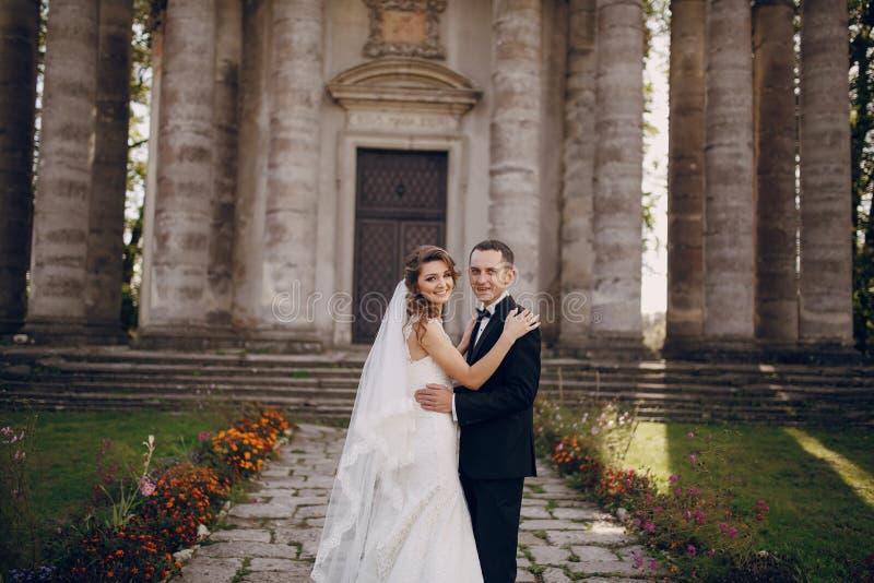 Beautiful couple wedding stock photography