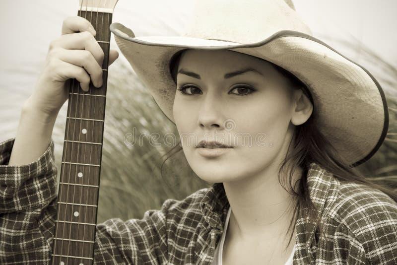 Beautiful cowgirl royalty free stock photo