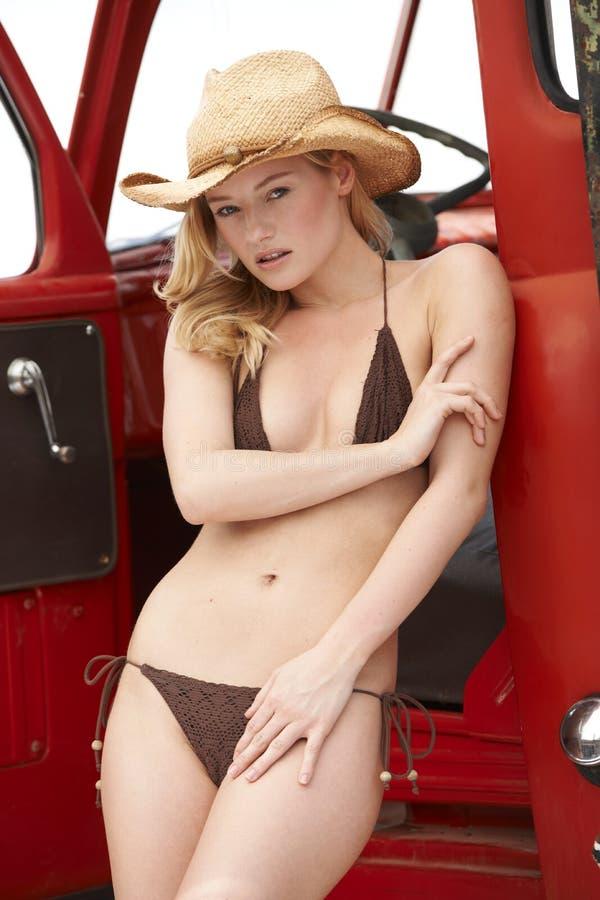 Free Beautiful Cowgirl In Bikini Royalty Free Stock Photo - 19260815
