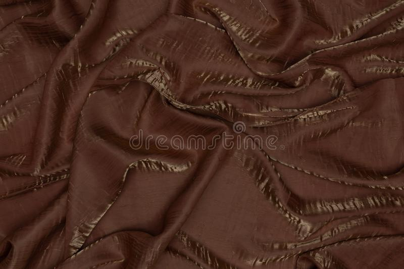 Beautiful creative brown fabric with textile texture background stock photography
