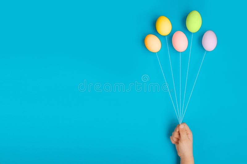 Happy Easter composition card concept with space for text royalty free stock image