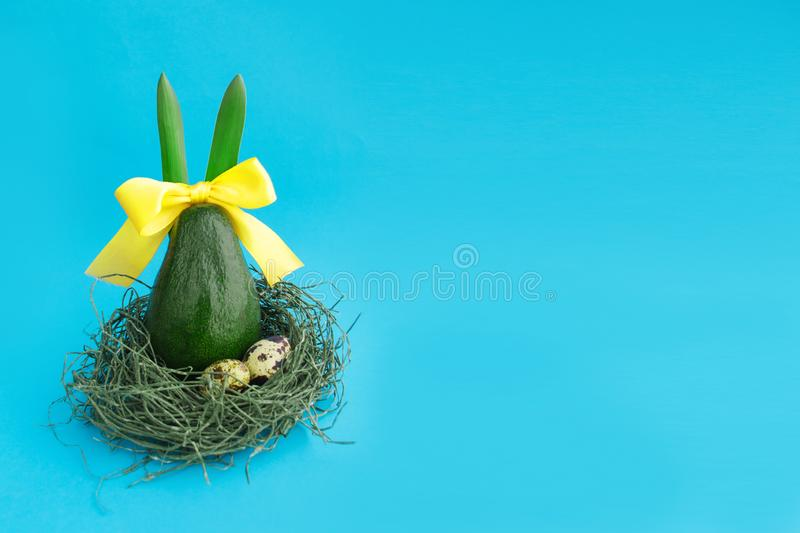 Happy Easter composition card concept with space for text stock photos