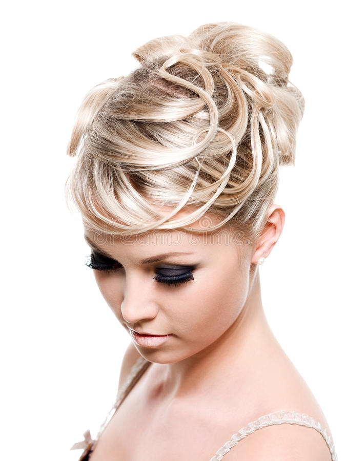 Download Beautiful Creative Hairstyle Stock Image - Image: 14022503