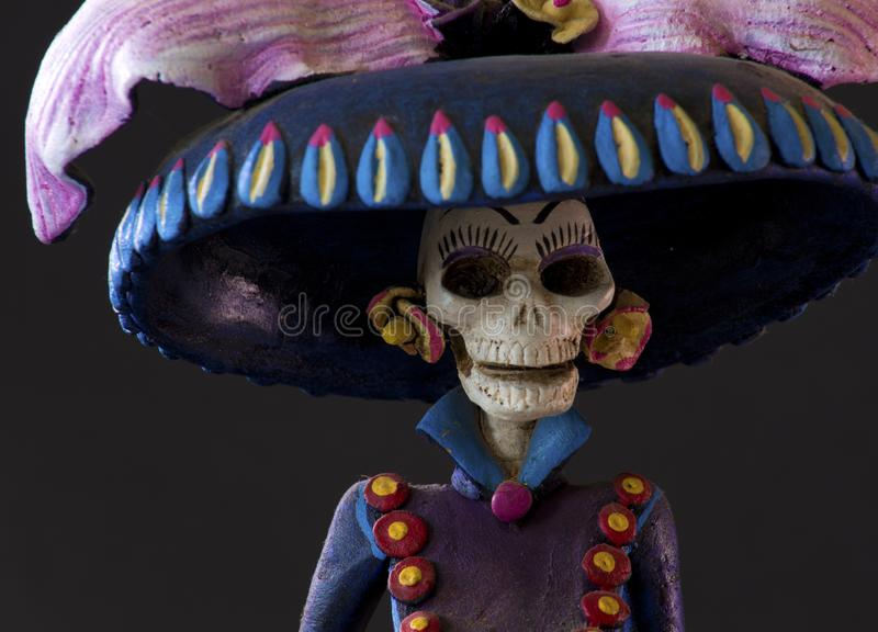 Grim Reaper from Oaxaca. A beautiful creepy sculpture of a Grim Reaper from Oaxaca royalty free stock photo