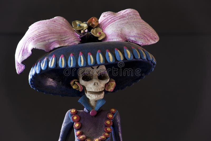 Grim Reaper from Oaxaca. A beautiful creepy sculpture of a Grim Reaper from Oaxaca stock photos