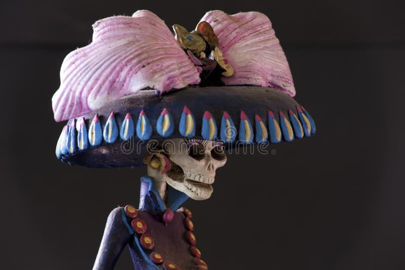 Grim Reaper from Oaxaca. A beautiful creepy sculpture of a Grim Reaper from Oaxaca stock photography