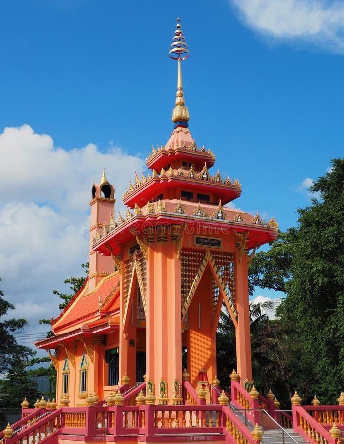 Beautiful crematorium pavilion. At Thai temple stock photography
