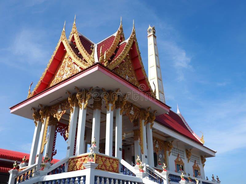 Beautiful crematorium at Thai temple. Beautiful crematorium bathed in morning light at Thai temple royalty free stock photos
