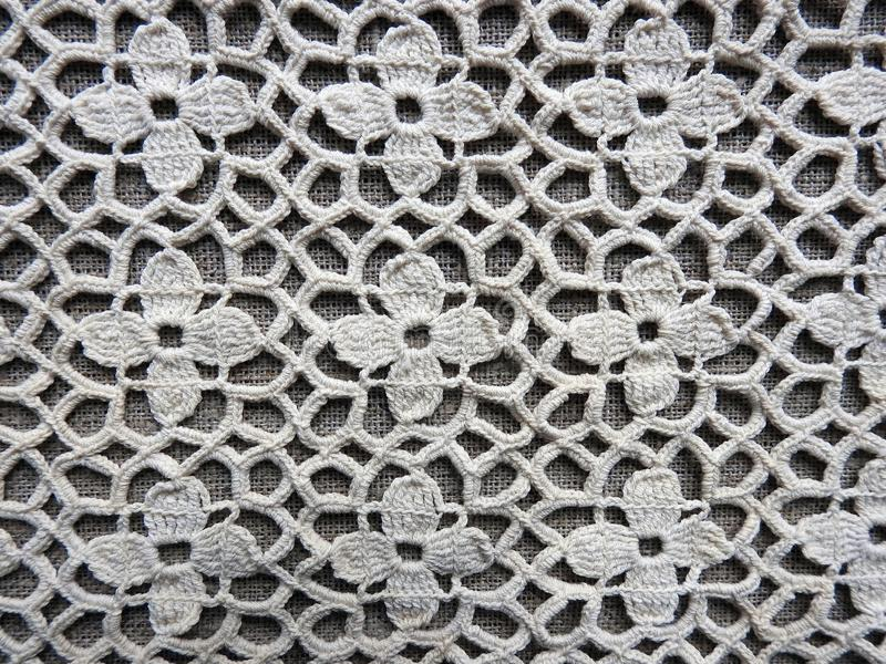 Beautiful crochet linen surface, Lithuania stock images