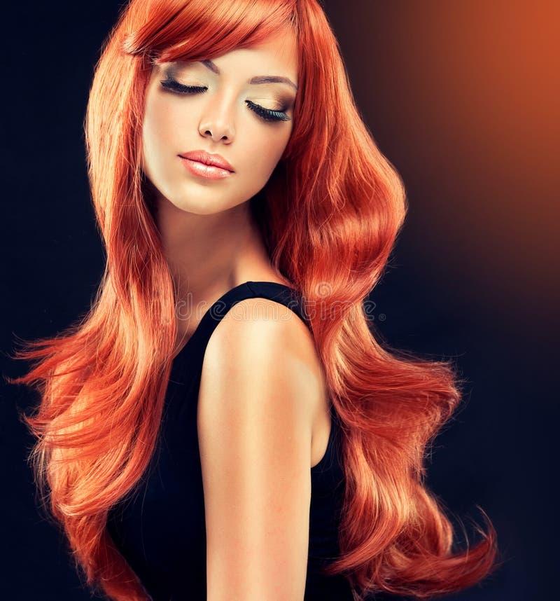 Beautiful curls royalty free stock photo