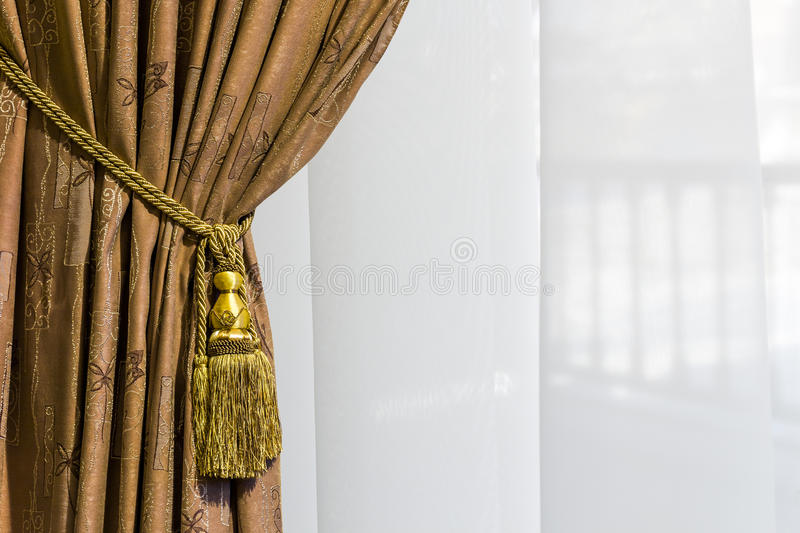 Beautiful curtain close-up royalty free stock photography