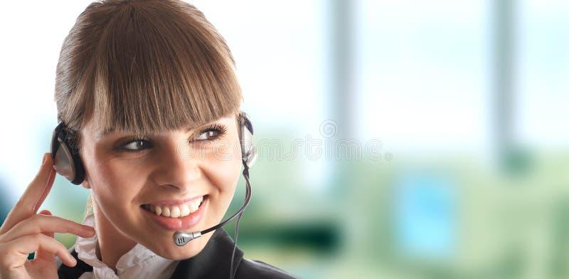 Beautiful Customer Representat royalty free stock photos