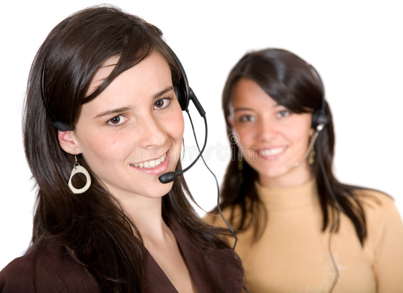 Download Beautiful Customer Service Advisors Stock Image - Image: 1384263