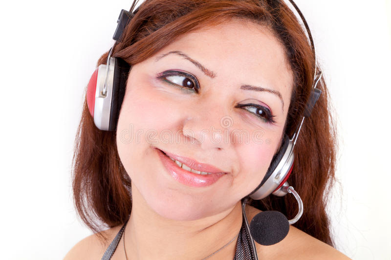 Download Beautiful Customer Support Girl Stock Image - Image: 25978161