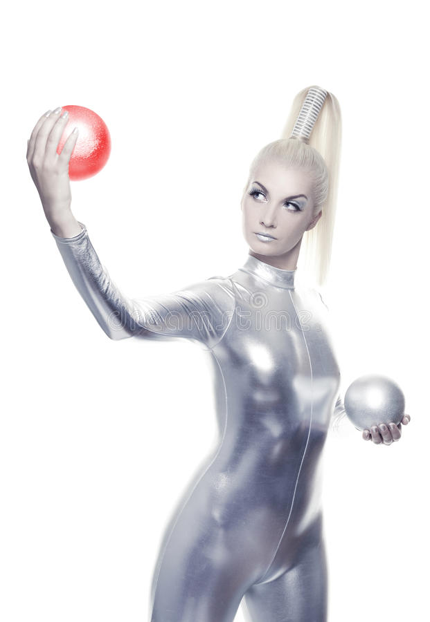 Beautiful Cyber Woman Stock Photos