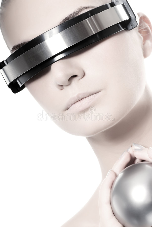 Download Beautiful Cyber Woman Stock Image - Image: 5643271