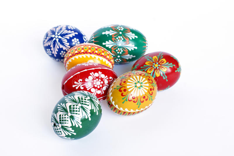 Beautiful Czech Easter Eggs royalty free stock photography