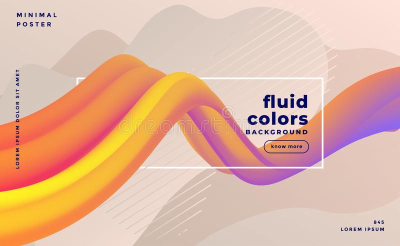 Beautiful 3d colorful wave abstract background design stock illustration