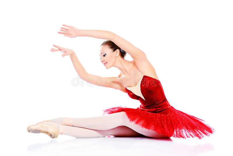 Beautiful dancer royalty free stock photography