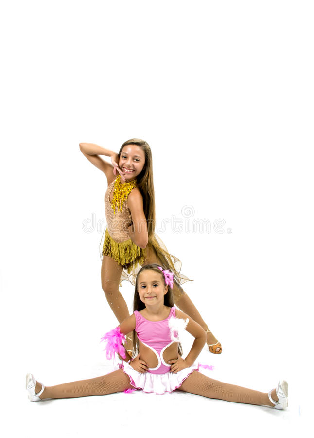 Beautiful dancers stock photo