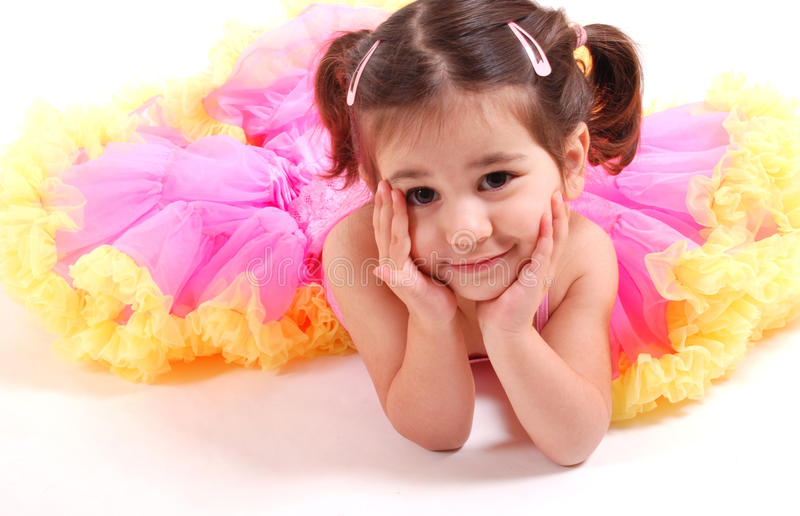 Beautiful dancing girl royalty free stock image