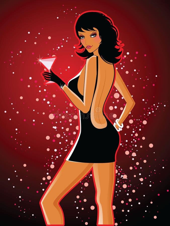 Download Beautiful dancing girl stock vector. Image of clubbing - 8531144