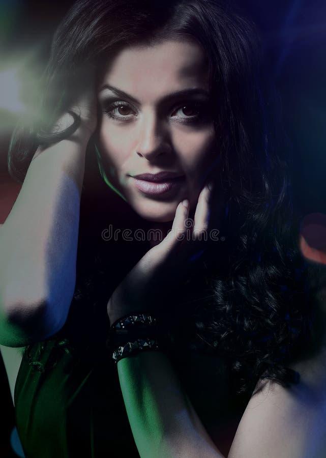 Beautiful dancing girl stock image
