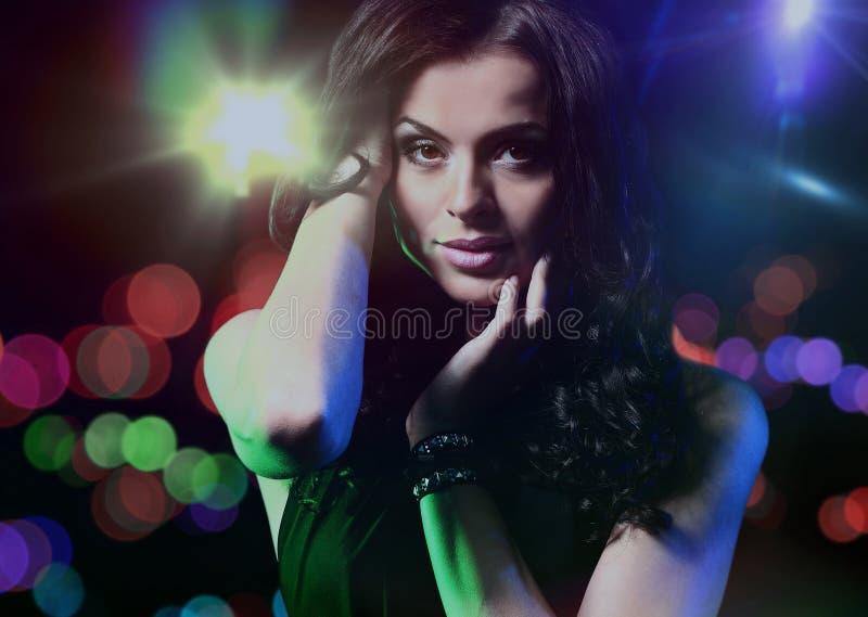 Beautiful dancing girl royalty free stock photo