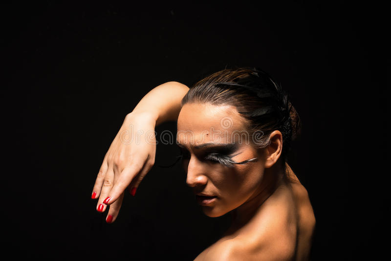 Beautiful dancing woman royalty free stock images