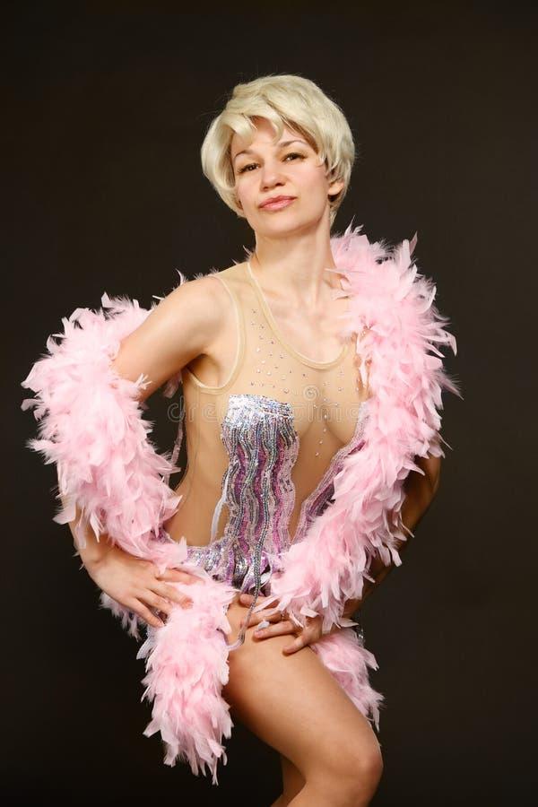 Beautiful dancing woman posing royalty free stock image