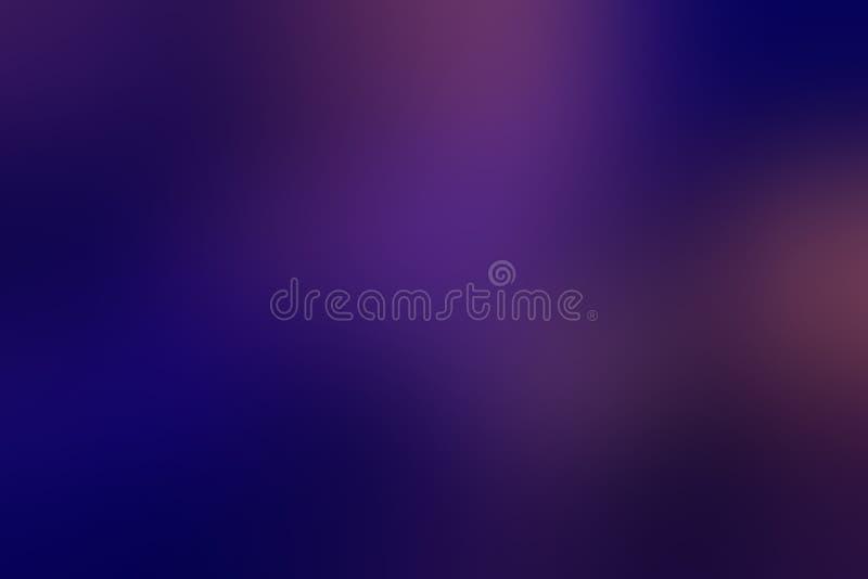 Beautiful Dark Blue Gradient Blurred Background stock illustration
