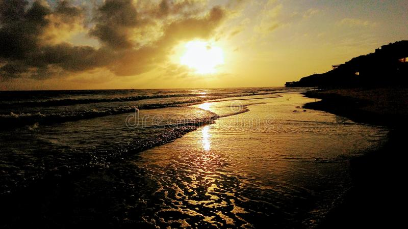 Beautiful dawn stock image