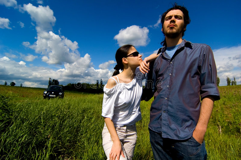 Beautiful Day In The Country stock photography