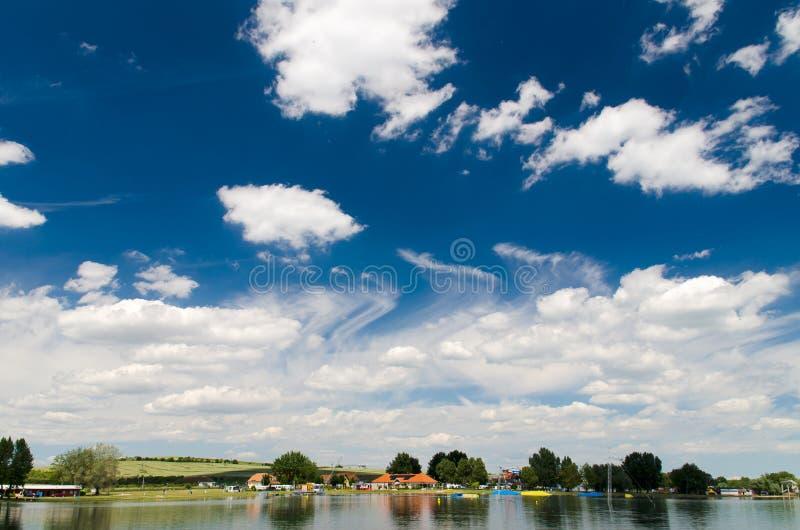 Beautiful day at the lake stock photos