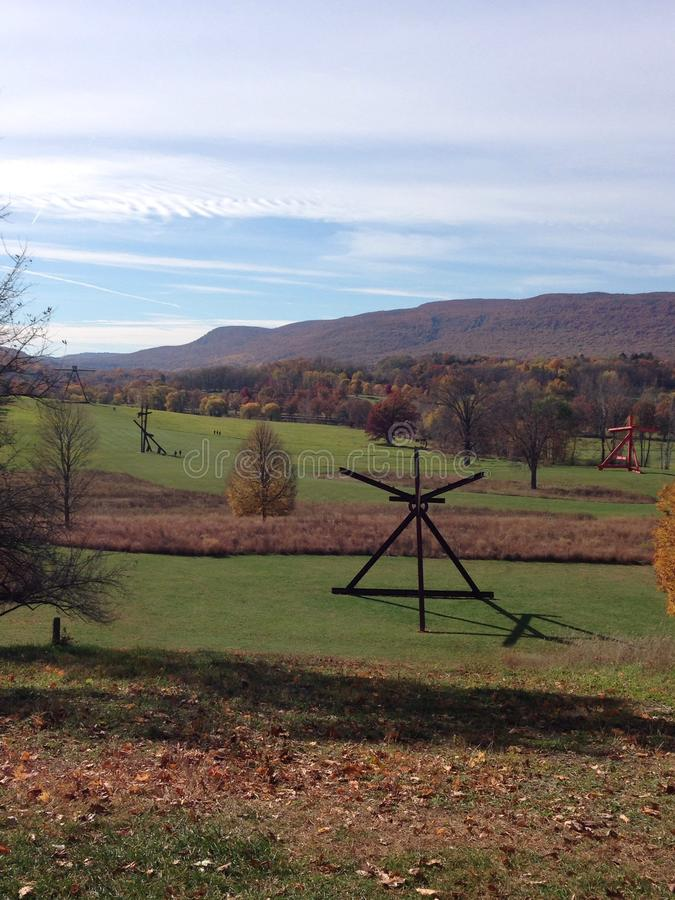 A beautiful day at Storm King NY. royalty free stock images