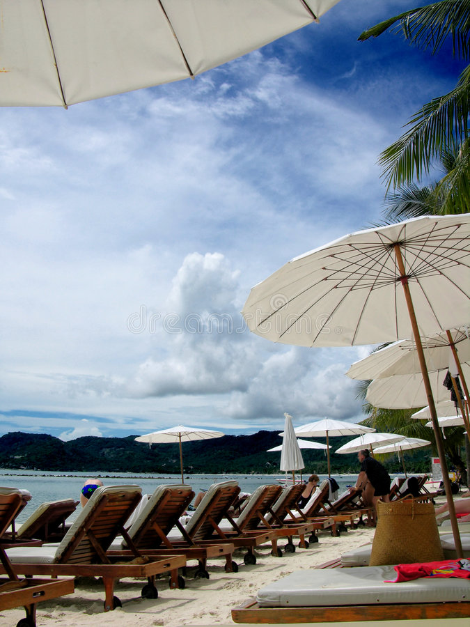 Beautiful day in a tropical resort royalty free stock photography