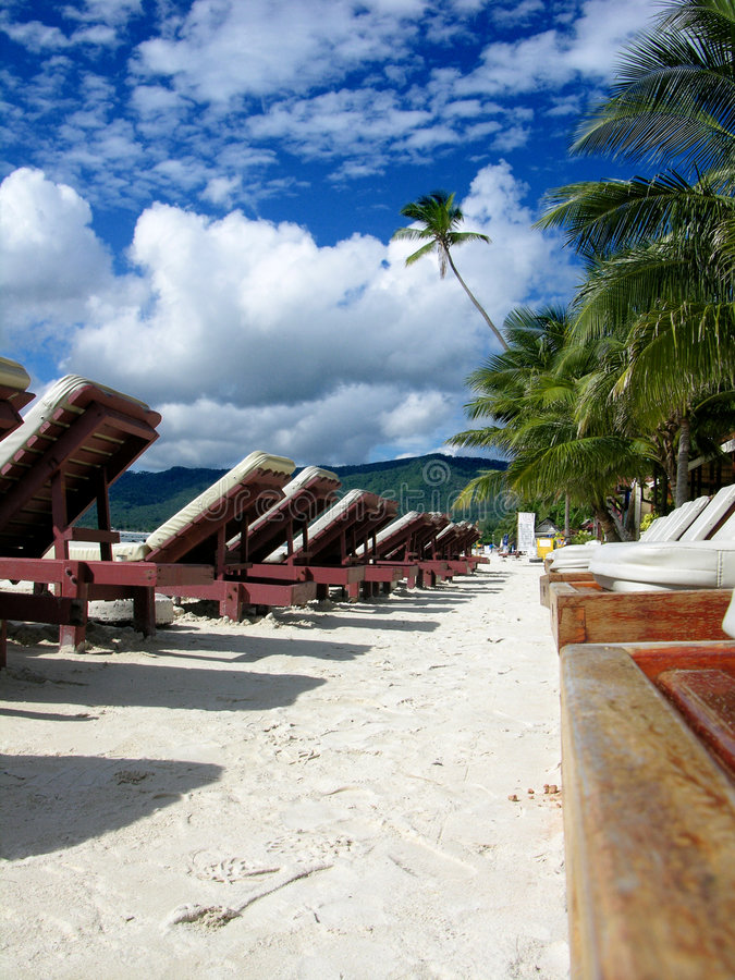 Beautiful Day In A Tropical Resort Royalty Free Stock Photos